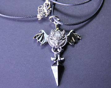 Final Fantasy Advent Children Cloud Symbol Fenrir Necklace