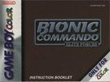 Bionic Commando: Elite Forces (Instruction Manual)