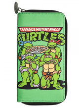 Teenage Mutant Ninja Turtles Large Zip Around Wallet