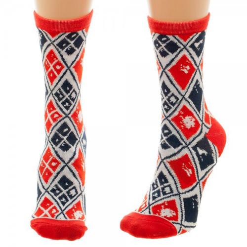 Harley Quinn Jrs Crew Socks