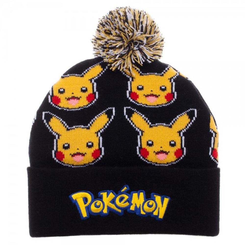 Pokemon Pikachu Pom Cuff Beanie
