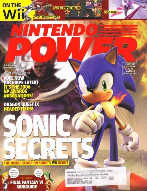 Nintendo Power Volume 213 Sonic and The Secret Rings