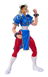 Street Fighter 15th Anniversary Series 1 Chun-Li Dark Blue Action Figure