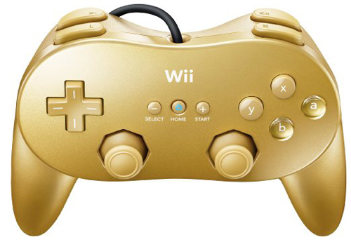 Nintendo Wii Classic Controller Pro Gold