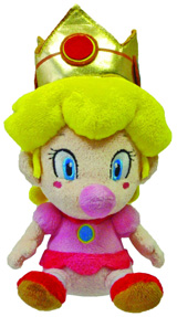 Super Mario Bros Baby Peach 5 Inch Plush