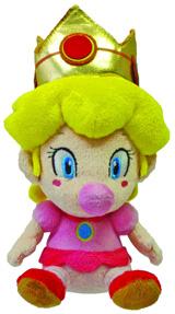 Super Mario Bros Baby Peach 5 Inch Plush