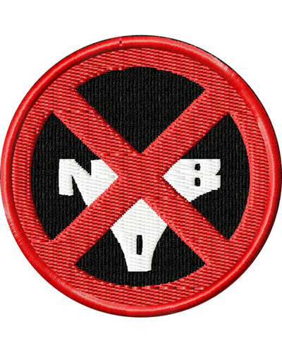 KILL la KILL Nudist Beach Rebels Logo Patch