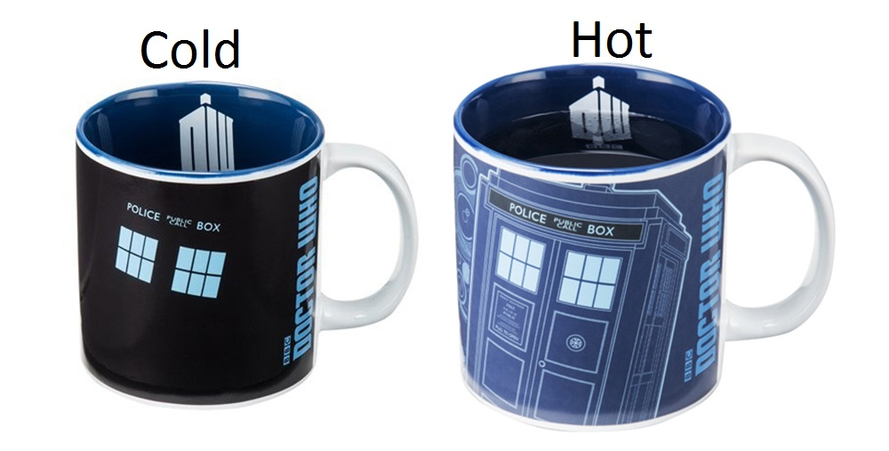 Dr. Who Police Box Heat Change 20oz Ceramic Mug