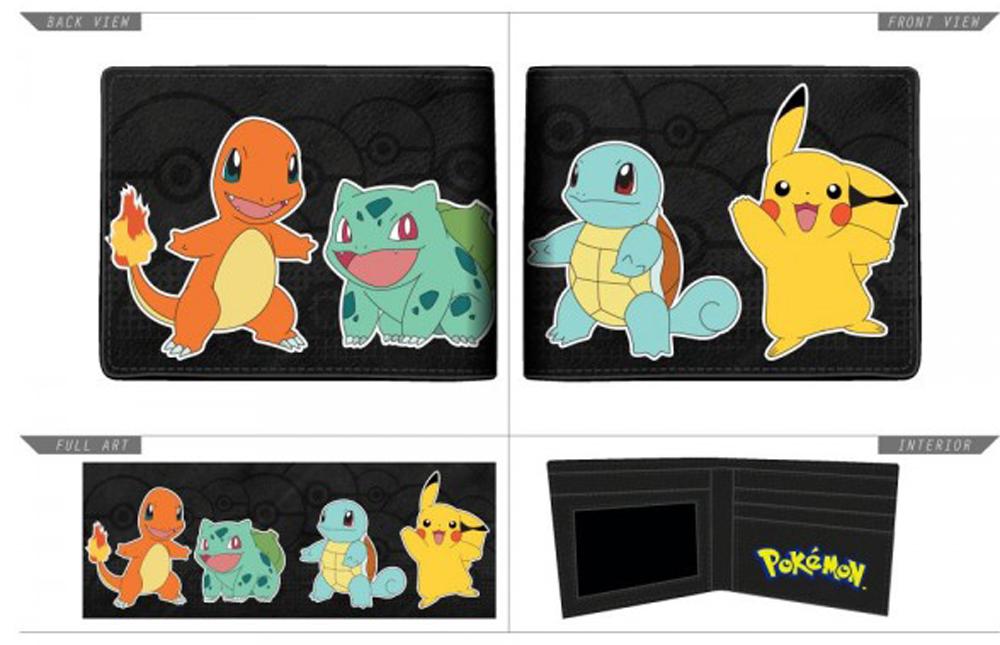 Pokemon Multi Character Bi-Fold Wallet