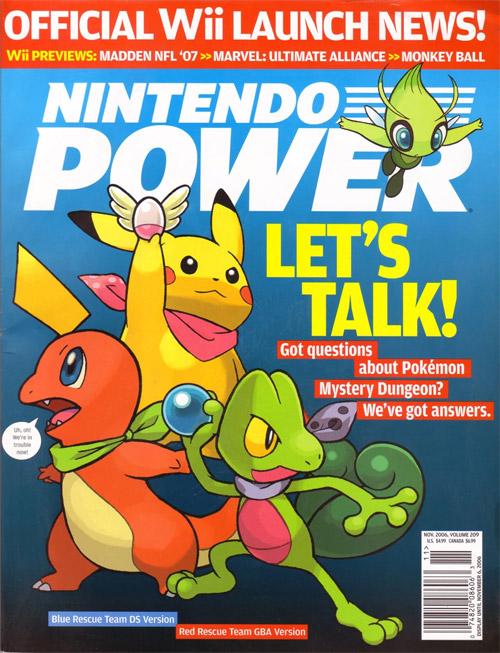 Nintendo Power Volume 209 Pokemon Mystery Dungeon