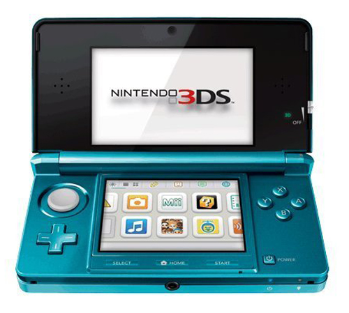Nintendo 3DS System Aqua Blue Japanese Version
