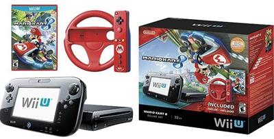 Nintendo Wii U Console Deluxe Set With Mario Kart 8