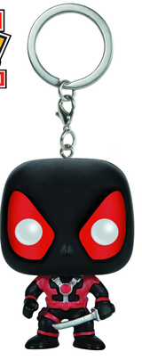Pocket Pop! Deadpool Black Suit Bobblehead Keychain