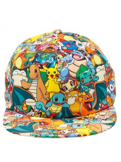 Pokemon All Over Print Adjustable Cap