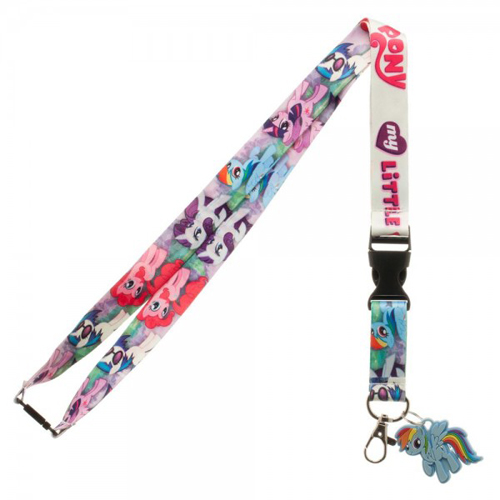My Little Pony Multi Character Lanyard With Charm