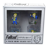 Fallout Vault Boy Shot Glass 4 Pack