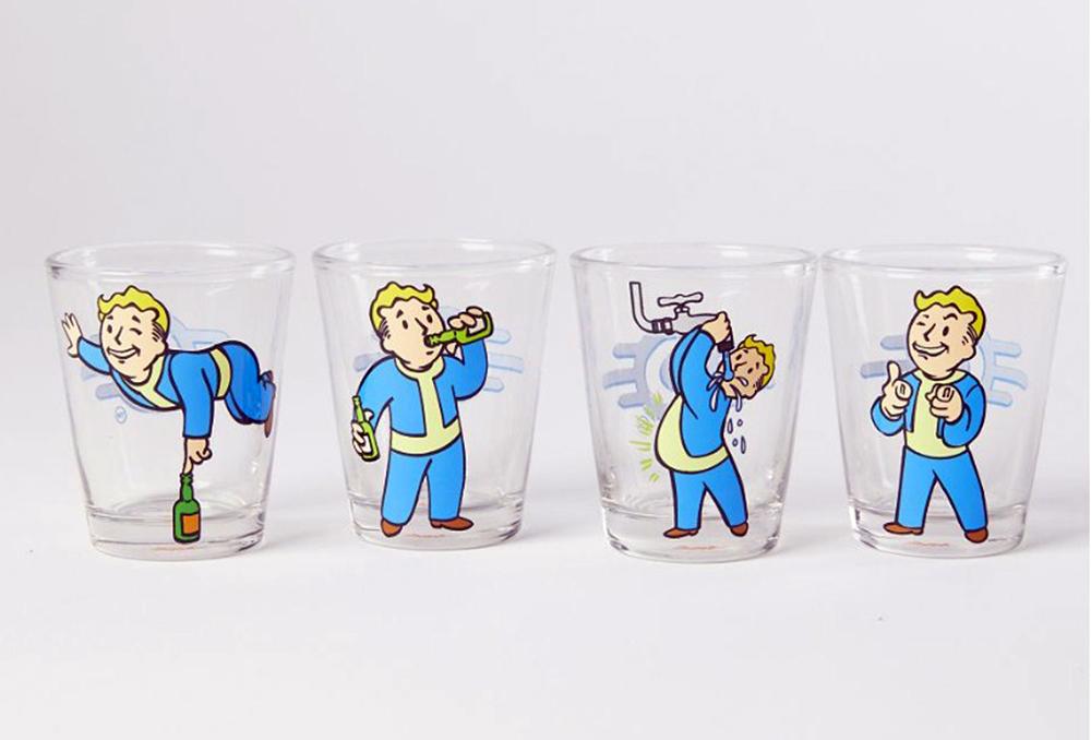 Fallout Vault Boy Shot Glasses 4 Pack