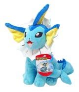 Pokemon Vaporeon 8 Inch Plush Assortment Wave 2