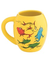 Dr. Seuss One Fish Two Fish 18 oz Oval Ceramic Mug