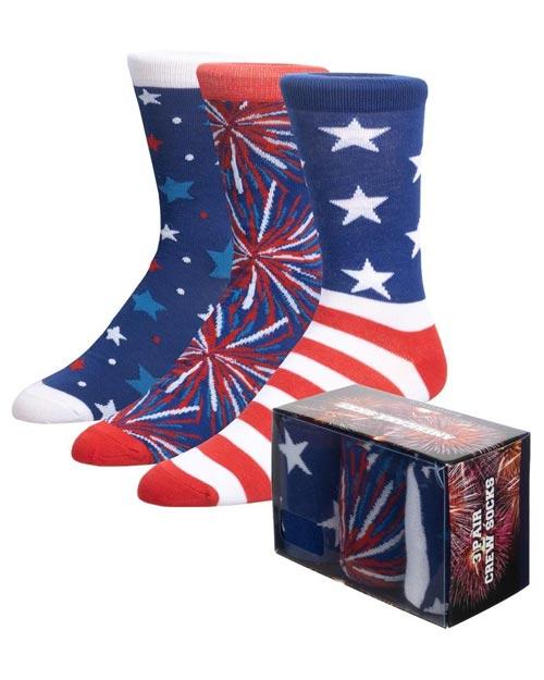 Americana-Themed Crew Socks 3 Pack