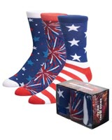 Americana-Themed Crew Socks 3 Pack