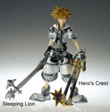 Kingdom Hearts 2 Play Arts Final Form Sora with Dual Keyblades