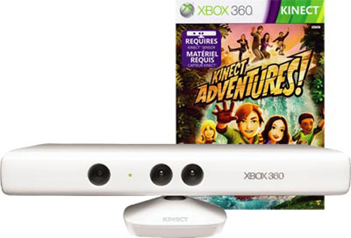 Xbox 360 Kinect with Kinect Adventures White