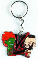 Street Fighter Blanka vs Zangief Enamel Keychain