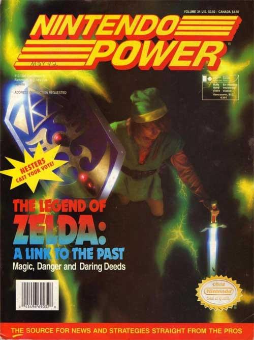 Nintendo Power Magazine Volume 34 Legend of Zelda: A Link To The Past
