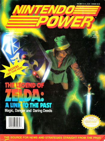 Nintendo Power Magazine Volume 34 Legend of Zelda: A Link To The Past