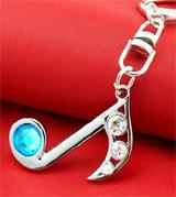 Hatsune Miku Blue Music Note Symbol Keychain