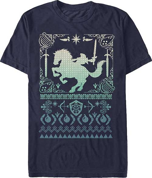 Legend of Zelda Silhouette Navy T-Shirt Extra Extra Large