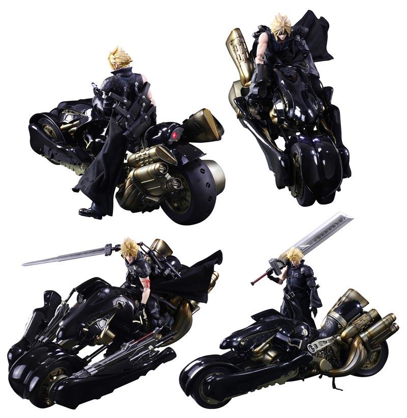 Final Fantasy VII: Play Arts Kai Cloud Strife & Fenrir Action Figure