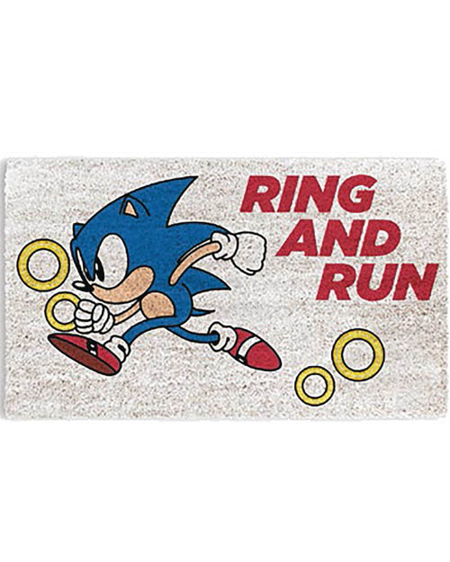 Sonic The Hedgehog Ring And Run Doormat