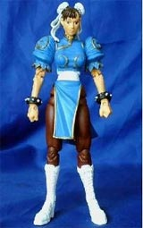 Street Fighter 15th Anniversary Series 1 Chun-Li Light Blue Action Figure