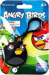 Angry Birds Black Bird Laser-Cut Backpack Clip
