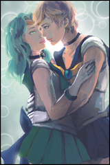 Sailor Uranus & Neptune Digital Print