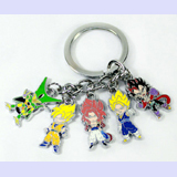 Dragon Ball Z Multi Character Keychain