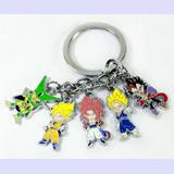 Dragon Ball Z Multi Character Keychain