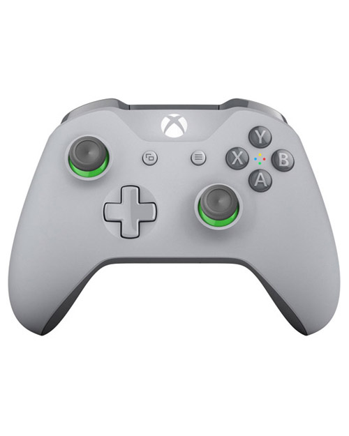Xbox One Wireless S Grey and Green Controller