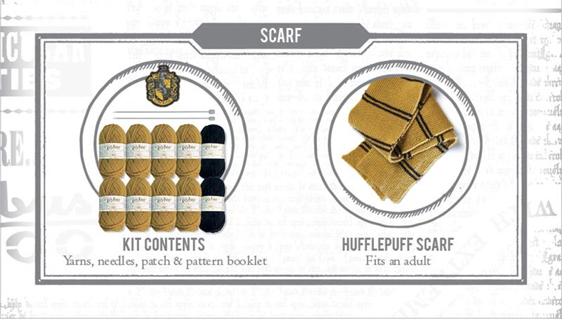 Harry Potter Hufflepuff Scarf Knit Kit extra img