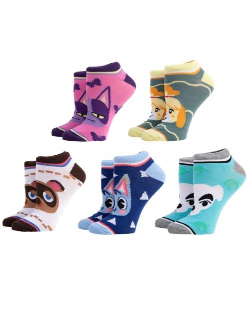 Animal Crossing Characters Ankle Socks 5 Pack