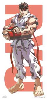 Street Fighter Ryu Door Poster