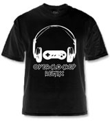 OverClocked Remix Official OCR Logo Black T-Shirt (Large)