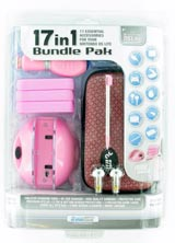 Nintendo DS Lite 17 in 1 Bundle Pack Pink by DreamGear