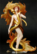 Fantasy Figure Gallery: Julie Bell Golden Lover Statue