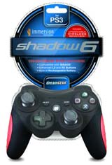 PS3 Shadow 6 Black Wireless Controller