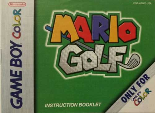 Mario Golf (Instruction Manual)