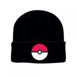 Pokemon Pokeball Black Cuff Knit Beanie