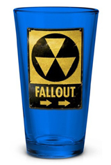 Fallout Nuclear Shelter Sign Pint Glass